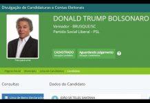 Candidato a vereador em Brusque se registra como Donald Trump Bolsonaro