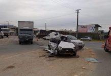 Câmeras flagram momento do acidente que causou duas mortes na BR-470